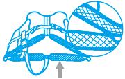 AQAのライフジャケットは本体下部をメッシュ素材にしているので水抜けがよく、早く乾きます。